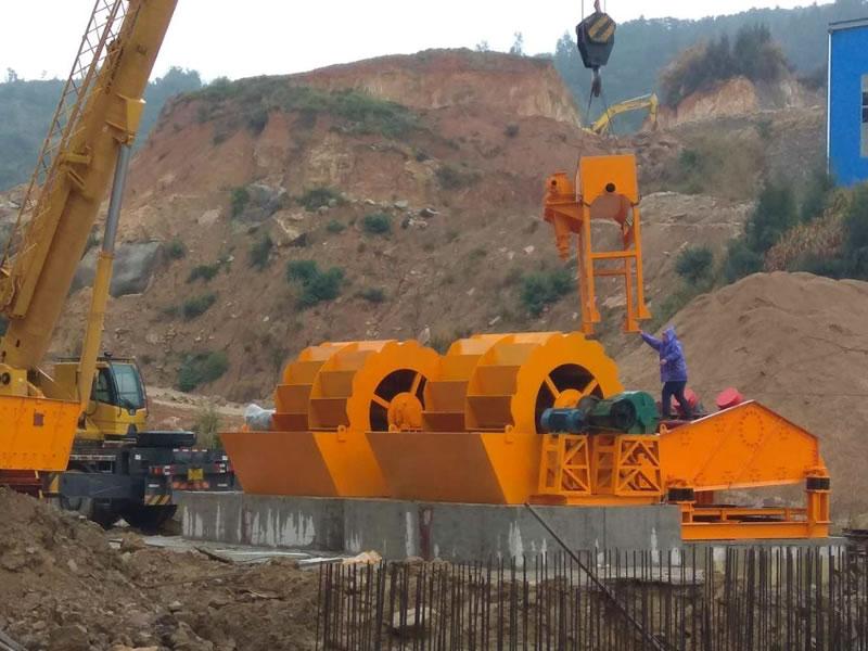 花岗岩制砂生产线安装中